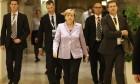 Merkel promises to help Turkey deal with migrants 'step-by-step' – video